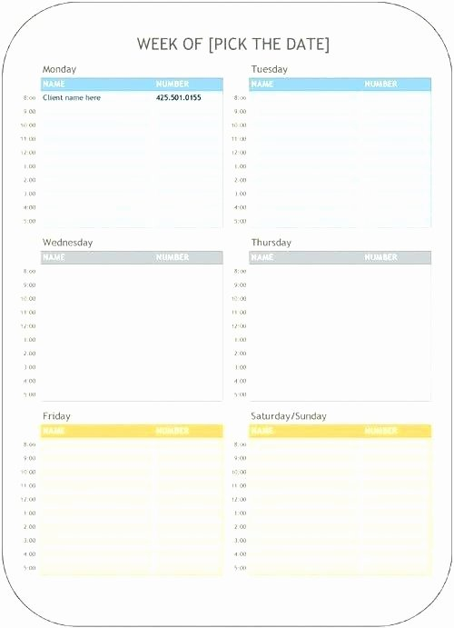 Medical Appointment Scheduling Template New Appointment Schedule Templates Doc Free Premium Design for
