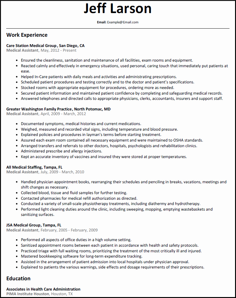 Medical assistant Resume Template Awesome Medical assistant Duties List F Resume