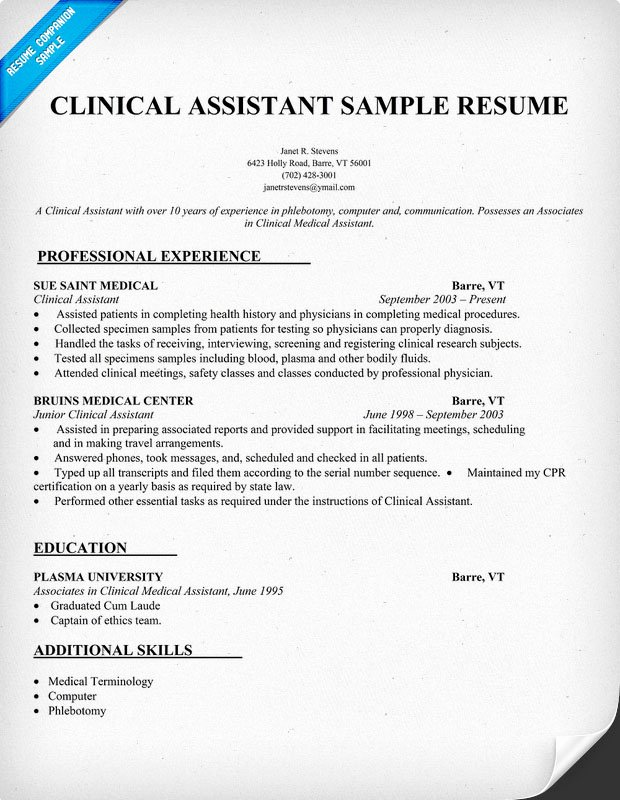 Medical assistant Resume Template Fresh Sample Resumes for Medical assistant