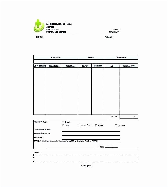 Medical Bill Template Pdf Awesome Medical Invoice Template Microsoft Word the Reasons why We