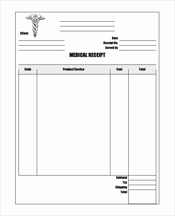Medical Bill Template Pdf Beautiful 17 Medical Receipt Templates Pdf Doc
