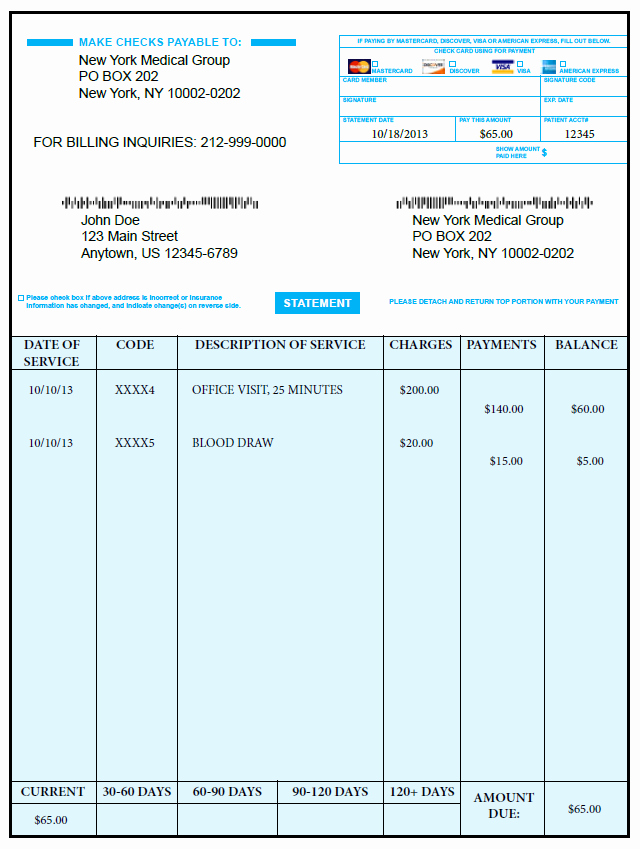 Medical Bill Template Pdf Beautiful Generic Invoices Printable Invoice Pinterest