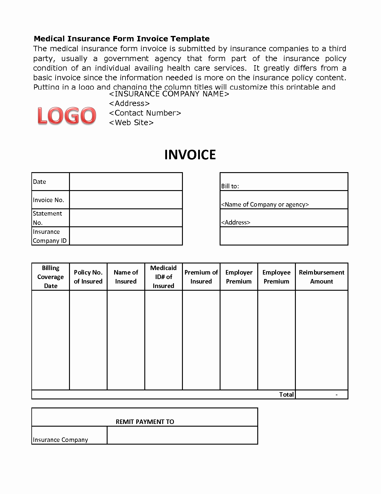 Medical Bill Template Pdf Inspirational Medical Billing Invoice Template Free Medical Invoice