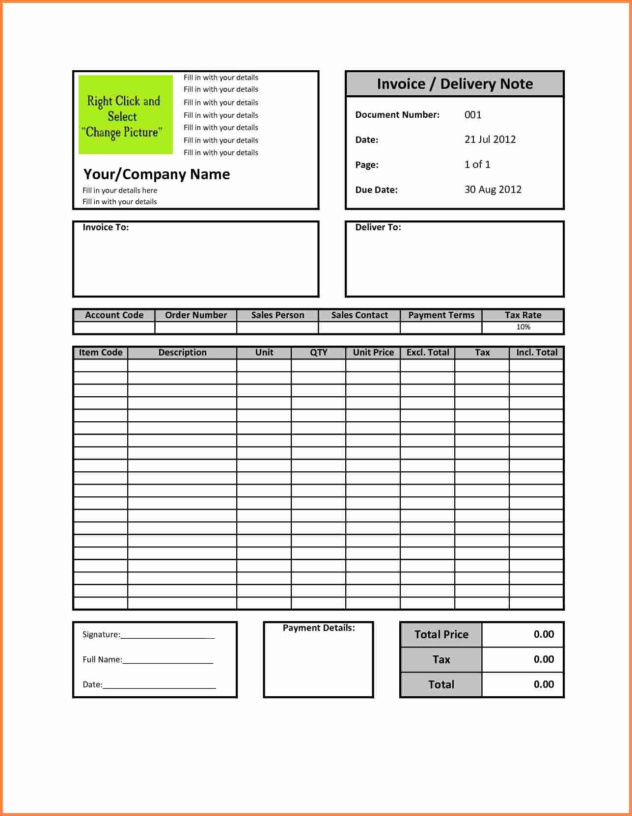 Medical Bill Template Pdf Luxury 3 Sample Billing Invoice Excel