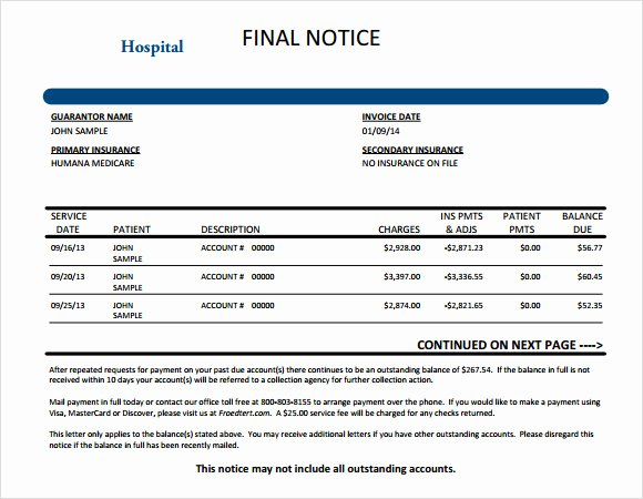 Medical Bill Template Pdf Unique 9 Medical Invoice Templates – Free Samples Examples