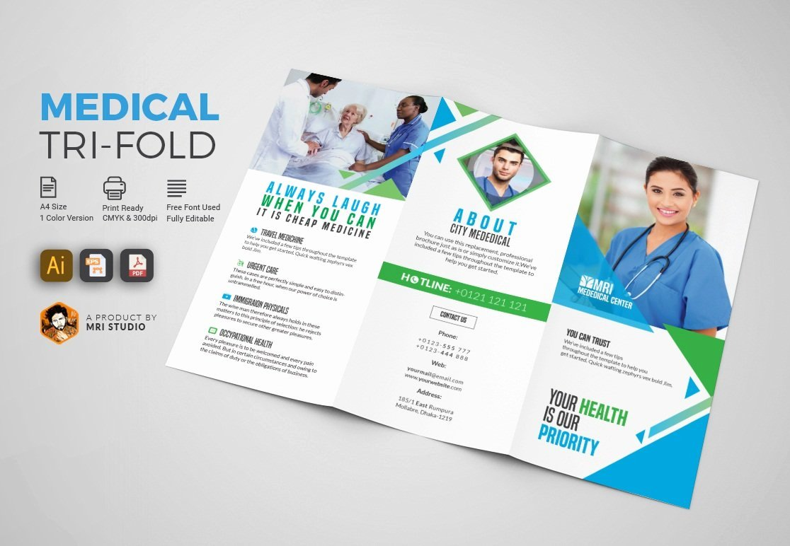 Medical Brochure Template Free Awesome Simple Medical Tri Fold Brochure Brochure Templates