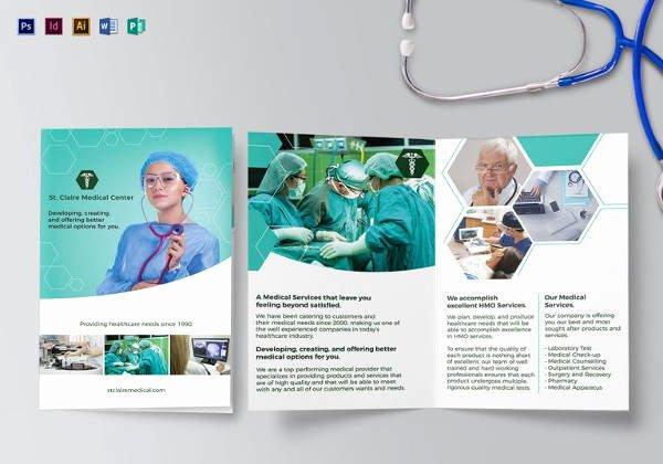 Medical Brochure Template Free Beautiful Blank Bi Fold Brochure Templates – 24 Free Psd Ai
