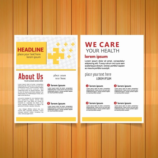Medical Brochure Template Free Best Of Medical Brochure Template Vector