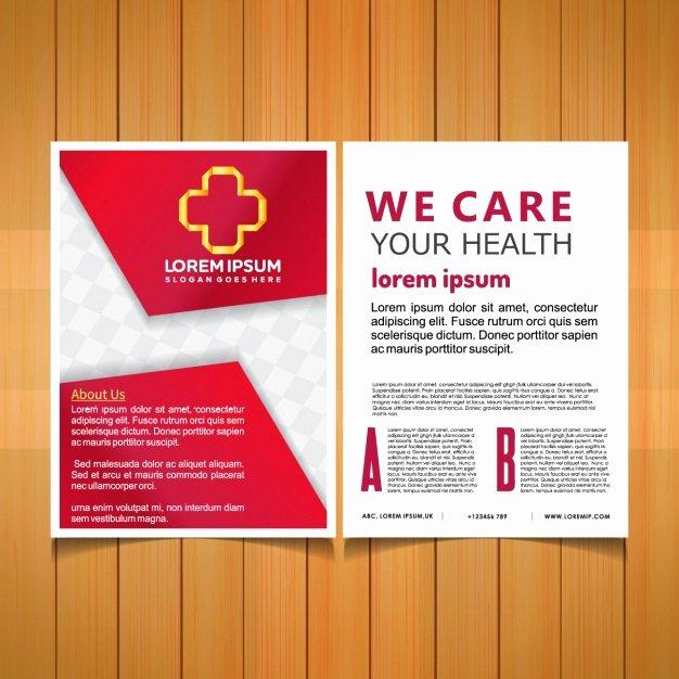 Medical Brochure Template Free Elegant Medical Brochure Template Vector