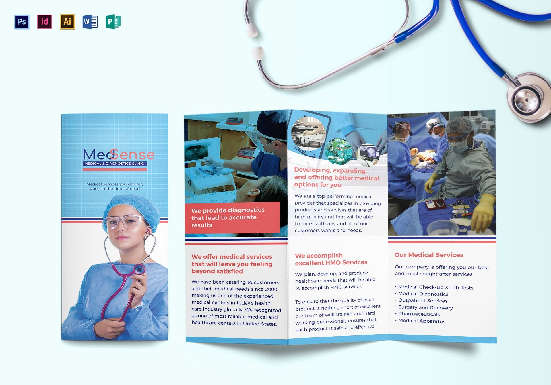 Medical Brochure Template Free Lovely Tri Fold Medical Brochure Design Template In Psd Word