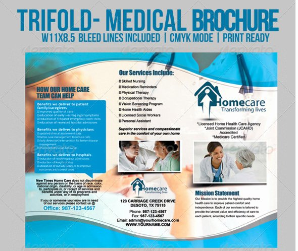 Medical Brochure Template Free Luxury 15 Daycare Brochure Templates Free Psd Eps