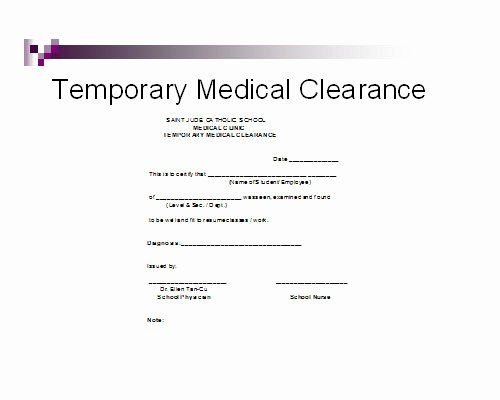 Medical Clearance Letter Template Inspirational Medical Clearance form for Dental Treatment – Templates
