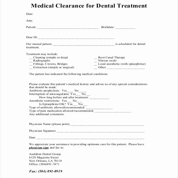 Medical Clearance Letter Template New 27 Sample Medical Clearance forms