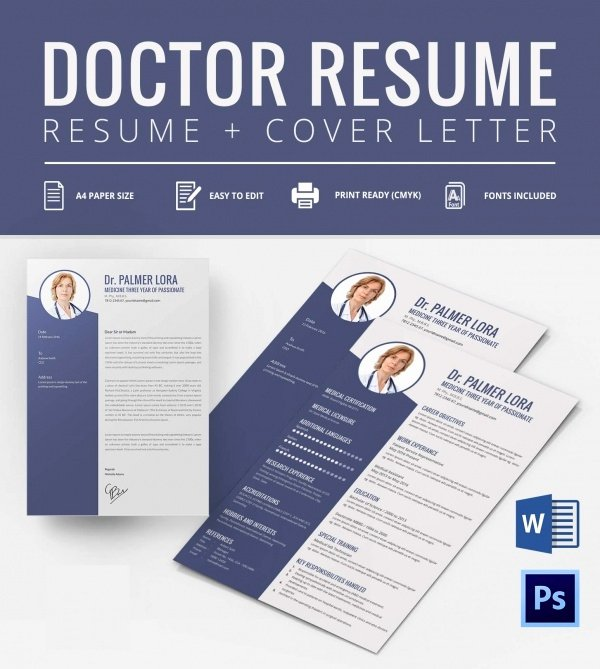 Medical Cv Template Word Awesome 40 Blank Resume Templates – Free Samples Examples