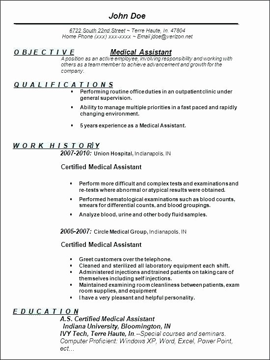Medical Cv Template Word Awesome Fice assistant Resume Sample Professional Financial