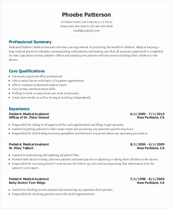 Medical Cv Template Word New 7 Senior Administrative assistant Resume Templates – Pdf