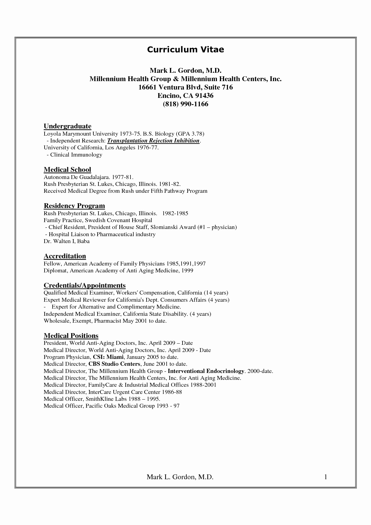 Medical Cv Template Word New Cv Medical Cv Template