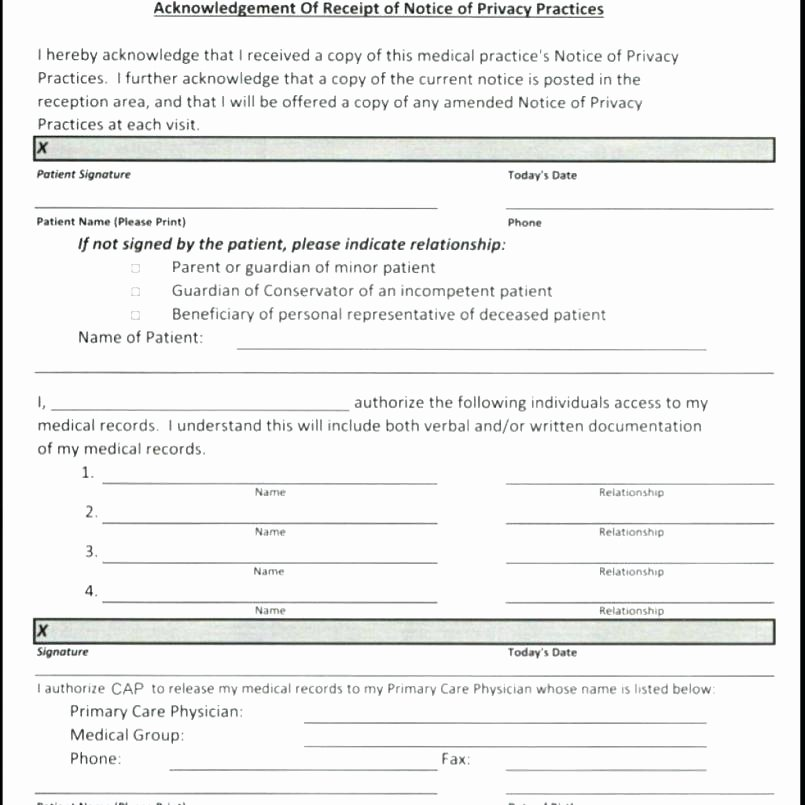 Medical Intake form Template Fresh Acupuncture Intake form Template Unique Patient Note