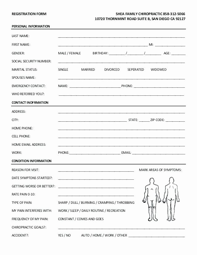 Medical Intake form Template Luxury Patient Intake form Template – Majestefo