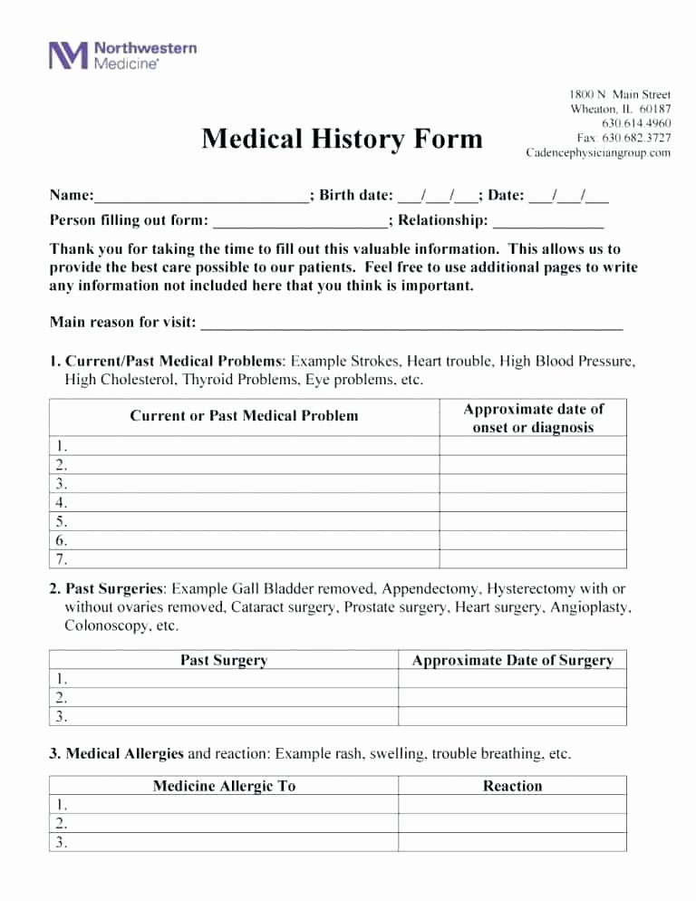 Medical Intake forms Template Unique Medical Intake form Template Volunteer Intake form