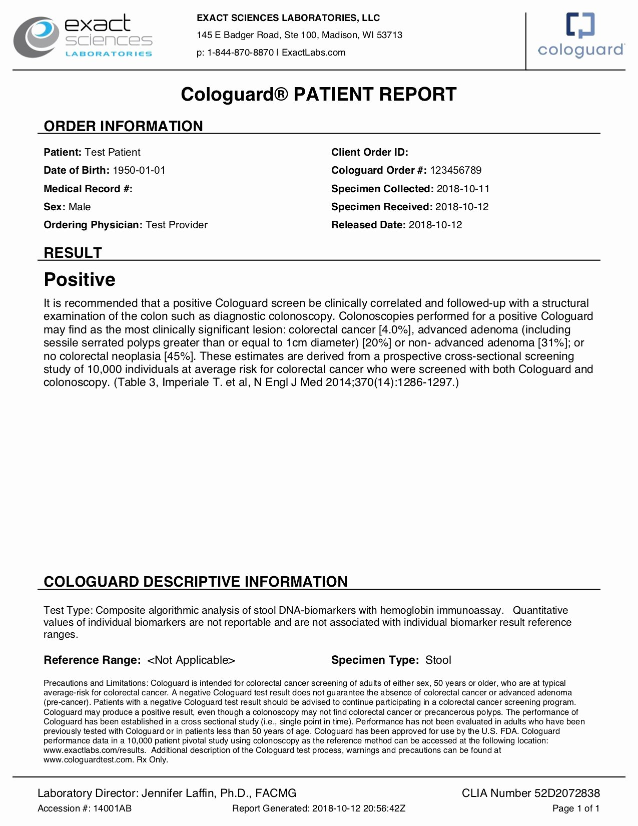 Medical Lab Results Template Luxury Sample Report