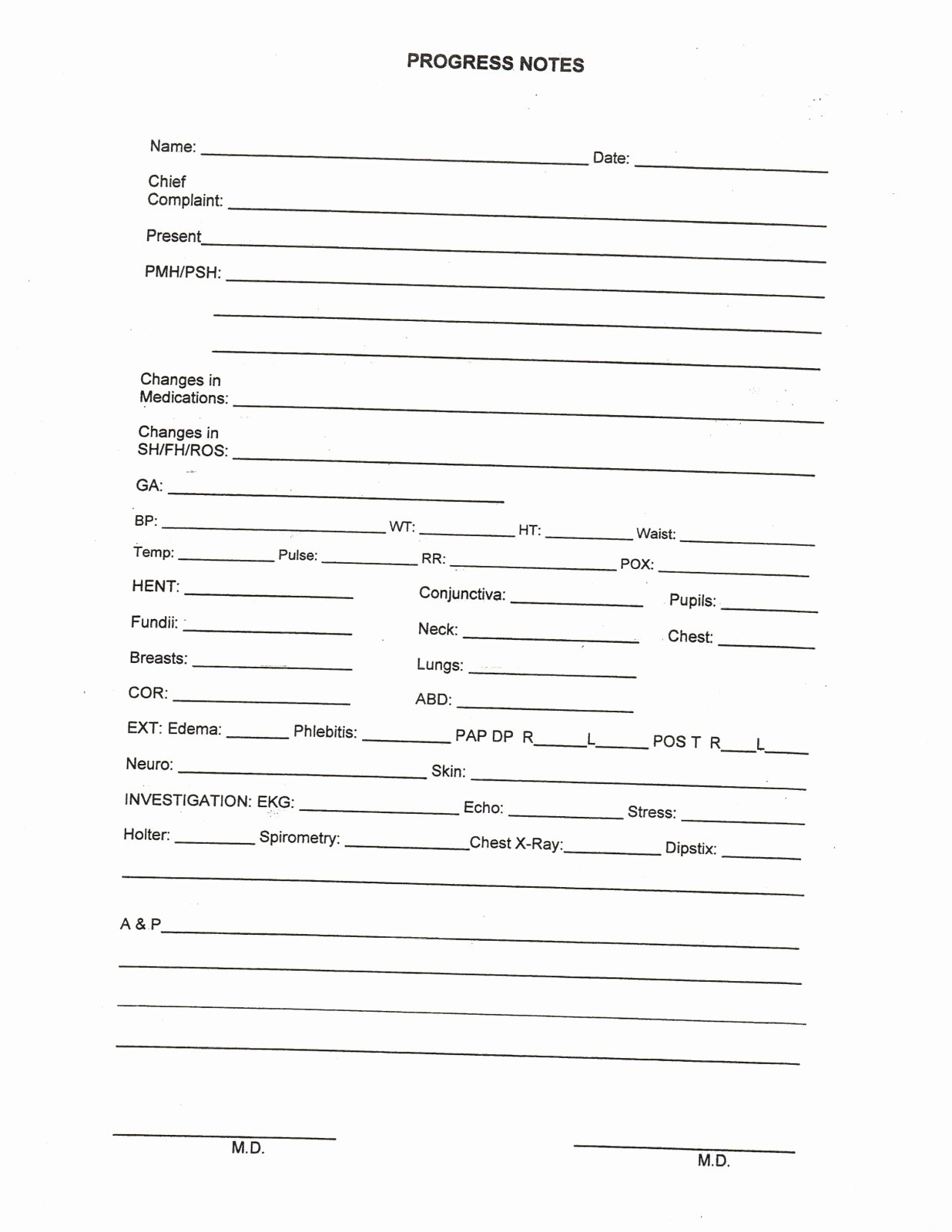 Medical Progress Note Template Inspirational 9 Best Of Medical Progress Notes forms Medical