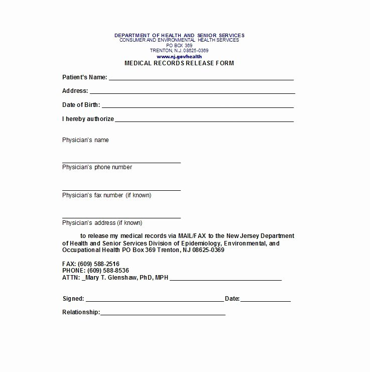 Medical Records form Template Luxury 30 Medical Release form Templates Template Lab