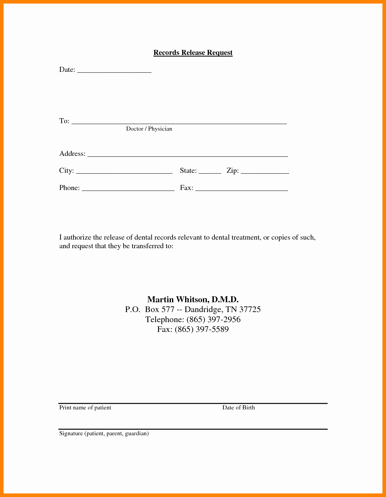 Medical Records form Template Unique Medical Release Information form Template