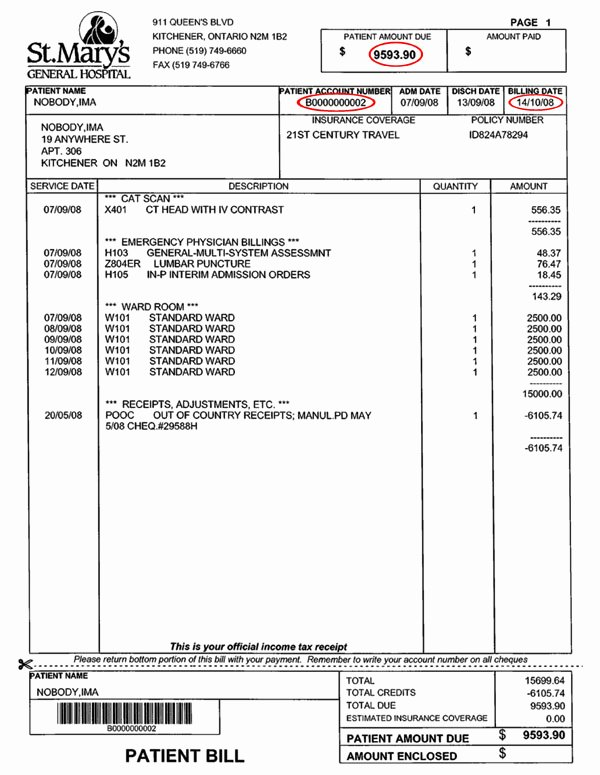Medical Records Invoice Template Inspirational 10 Best Of Medical Invoice Sample Free Bill