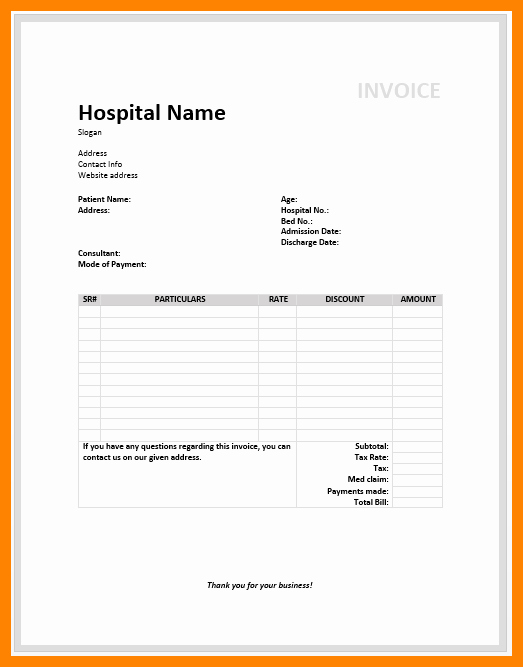 Medical Records Invoice Template Inspirational 8 Medical Invoice Template Free