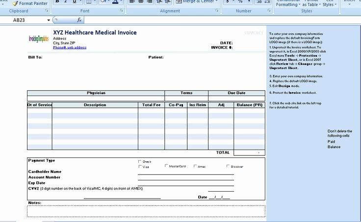 Medical Records Invoice Template Unique the Medical Invoice Template is Useful for Any Healthcare