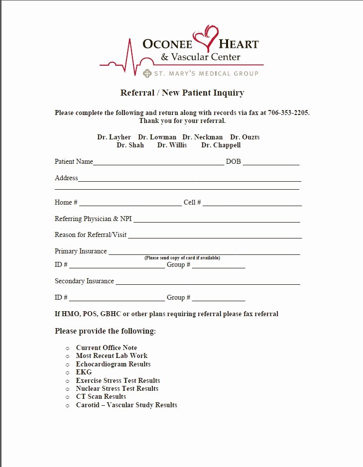 Medical Referral form Template Elegant Medical Referral form – Templates Free Printable