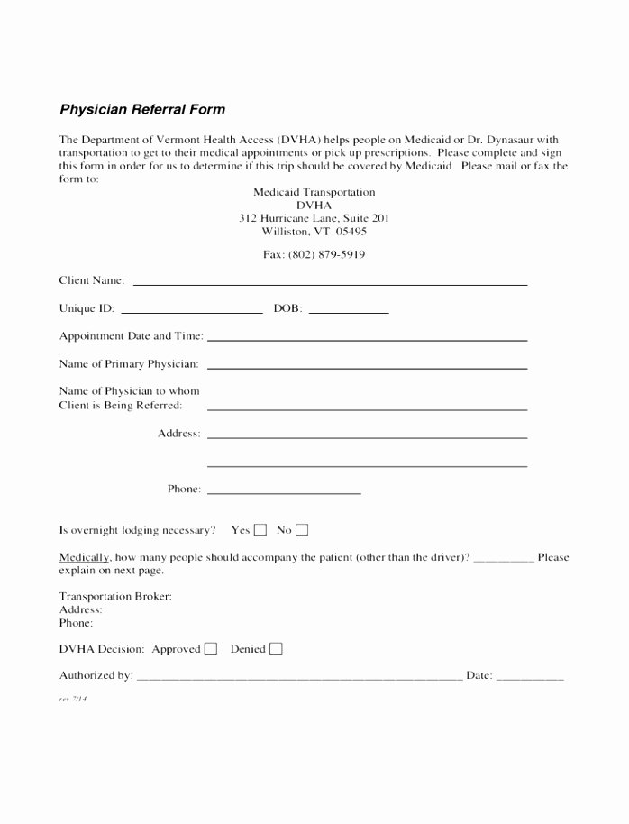 Medical Referral form Template Inspirational 12 Patient Referral form Template Utixy