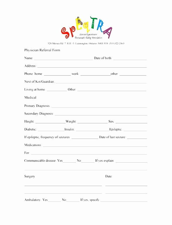 Medical Referral form Template Inspirational Medical Referral form Template – Versatolelive