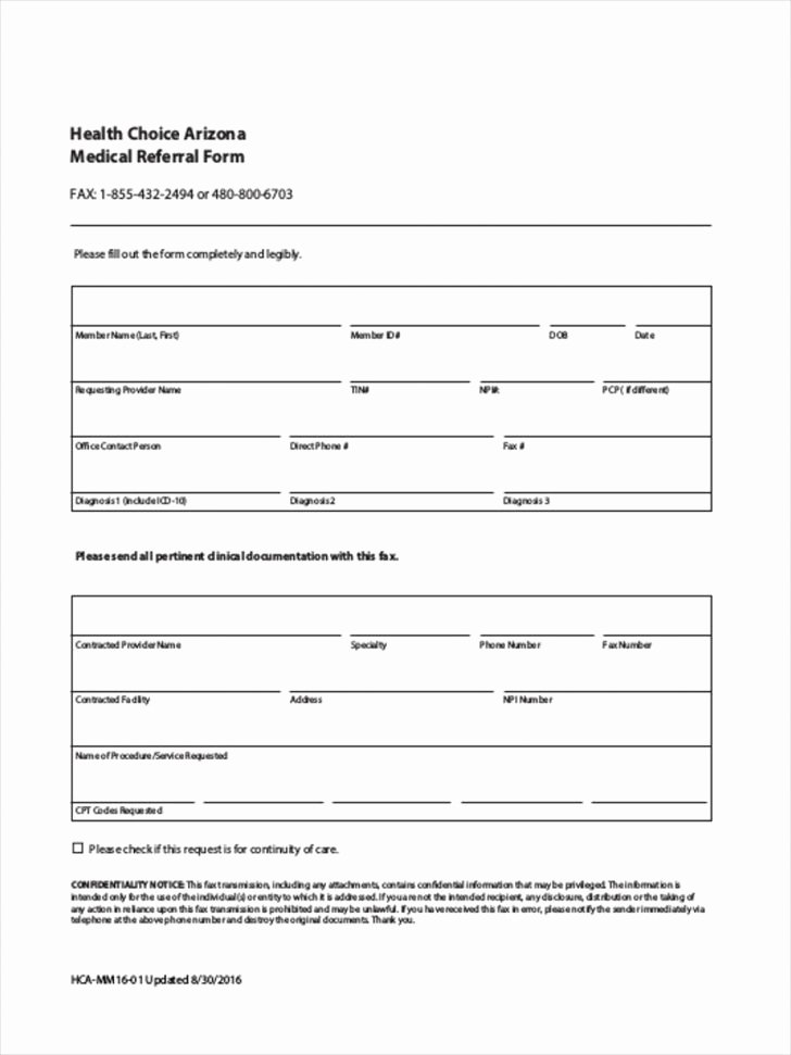 Medical Referral forms Template Fresh form Medical Referral form