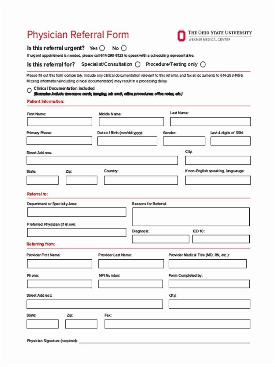 Medical Referral forms Template Luxury Medical Referral form 8 Free Documents In Word Pdf