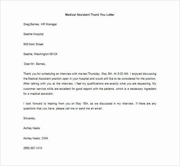 Medical Referral Letter Template Beautiful 9 Medical Thank You Letter Templates Doc Pdf