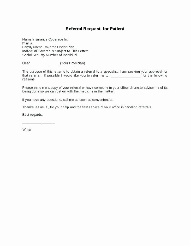 Medical Referral Letter Template Fresh 14 15 How to Write A Referral Letter