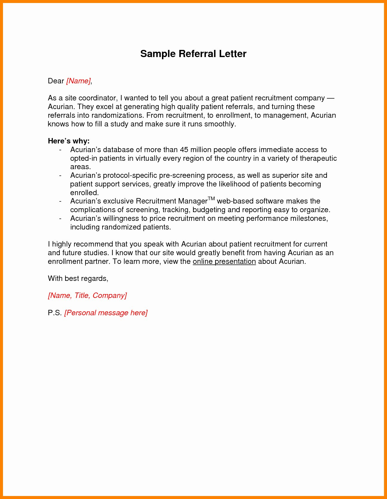 Medical Referral Letter Template New Medical Referral Letter Template Examples