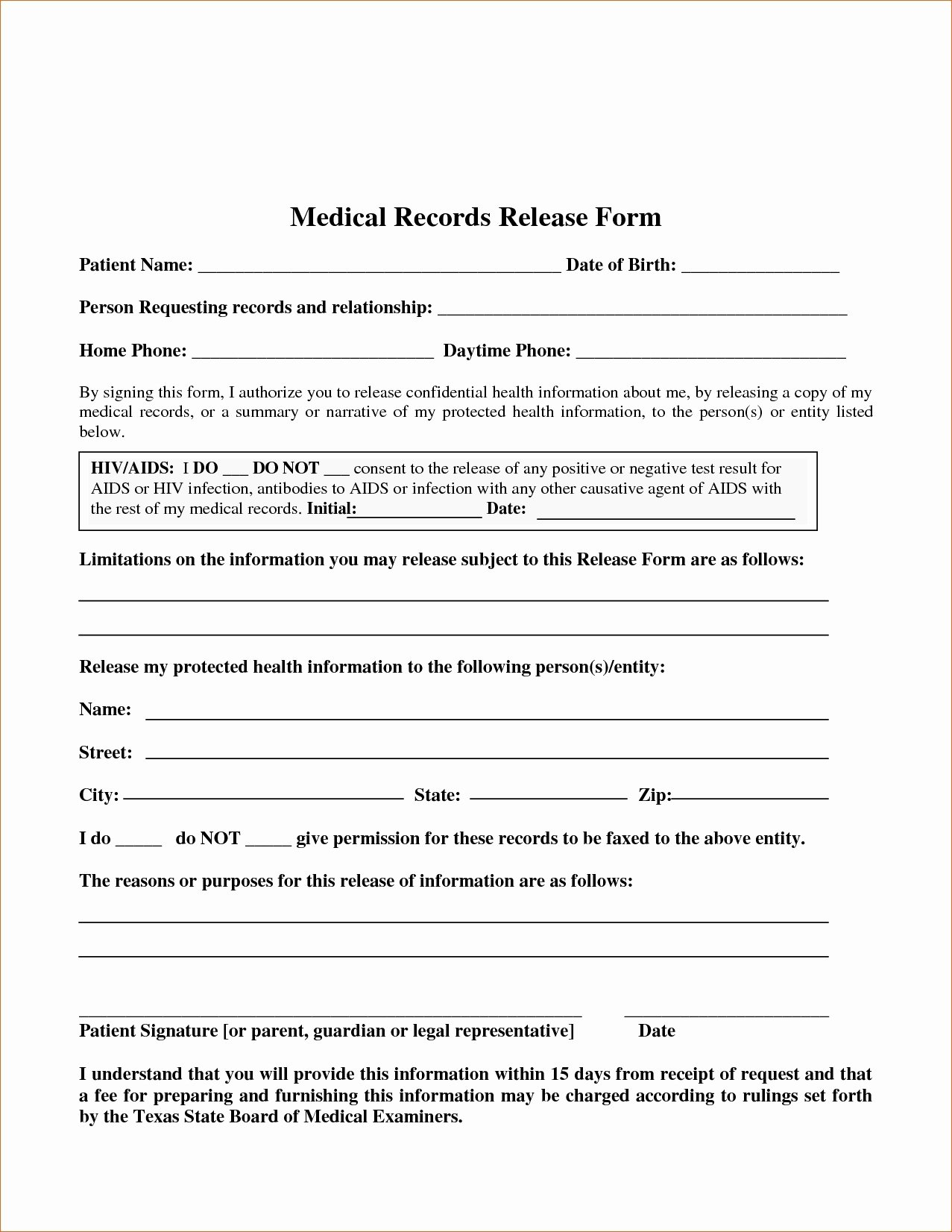 Medical Release form Template Awesome Medical Record Release form Template
