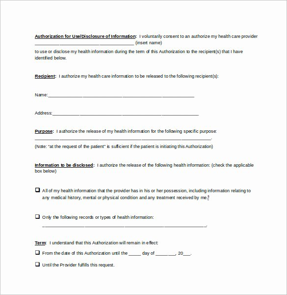 Medical Release form Template Inspirational Release Information forms Oursearchworld