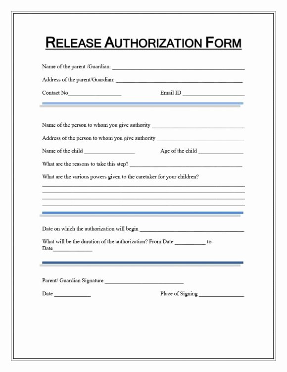 Medical Release form Template New 40 Medical Records Release form Release Of Information