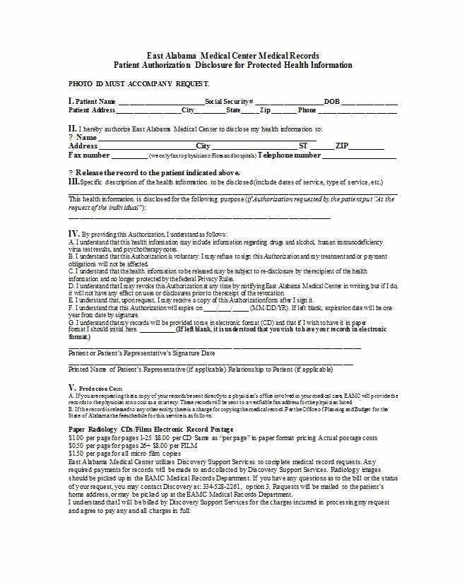Medical Release form Template Unique 30 Medical Release form Templates Template Lab