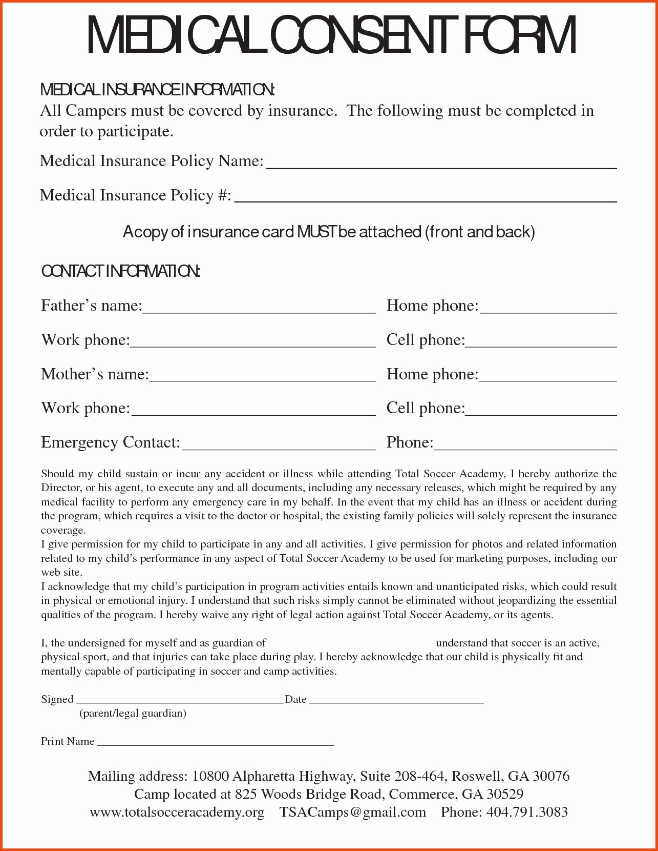 Medical Release forms Template Beautiful Medical Consent Letter Template Collection