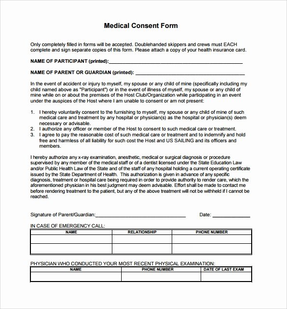 Medical Release forms Template Best Of 14 Medical Consent form Templates – Free Samples