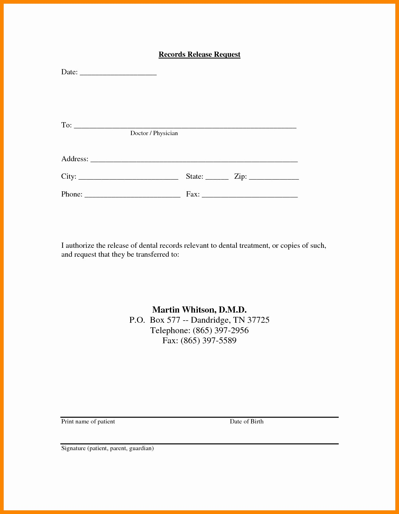 Medical Release forms Template Elegant Medical Records Release Letter Template Collection
