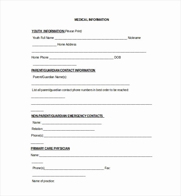 Medical Release forms Template Fresh 20 Sample Medical Release forms
