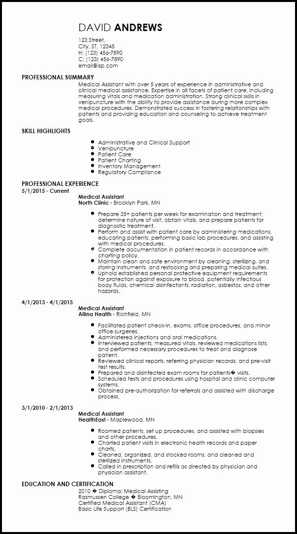 Medical Resume Template Free Fresh Free Creative Medical Resume Templates
