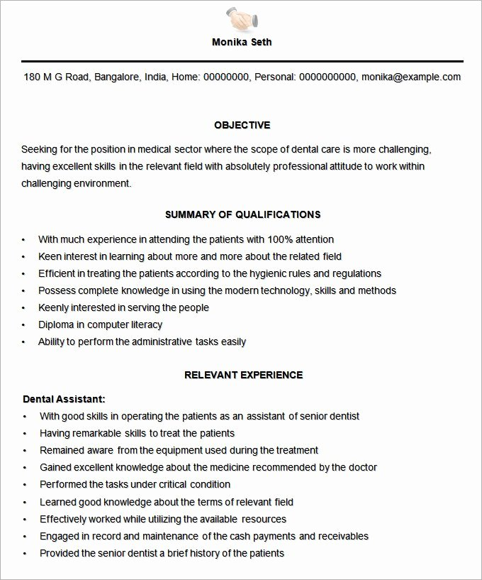 Medical Resume Template Free Inspirational Microsoft Word Resume Template 49 Free Samples