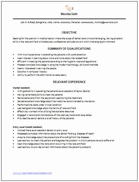 Medical Resume Template Free Inspirational Over Cv and Resume Samples with Free Download